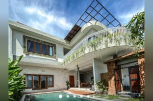 long term rental villa Biru in Berawa, yearly rental villa