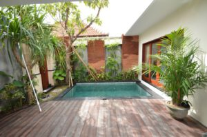 long term rental villa mira in berawa, yearly rental villa